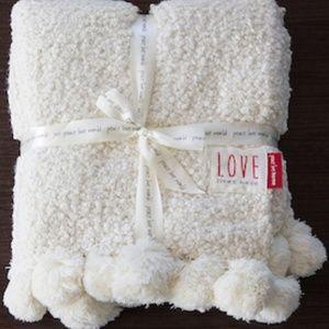 "Peace Love World 60""x80"" Super Oversize Knit Throw"